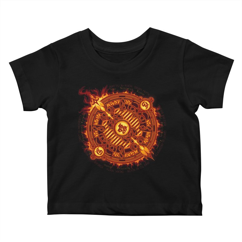 Ifrit Seal Kids Baby T-Shirt by hechicero's Magic Shop