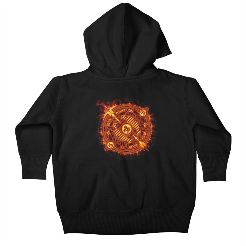 Ifrit Seal Kids Baby Zip-Up Hoody by hechicero's Magic Shop