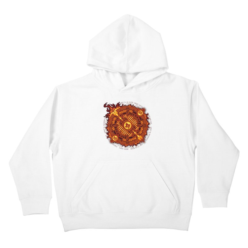Ifrit Seal Kids Pullover Hoody by hechicero's Magic Shop