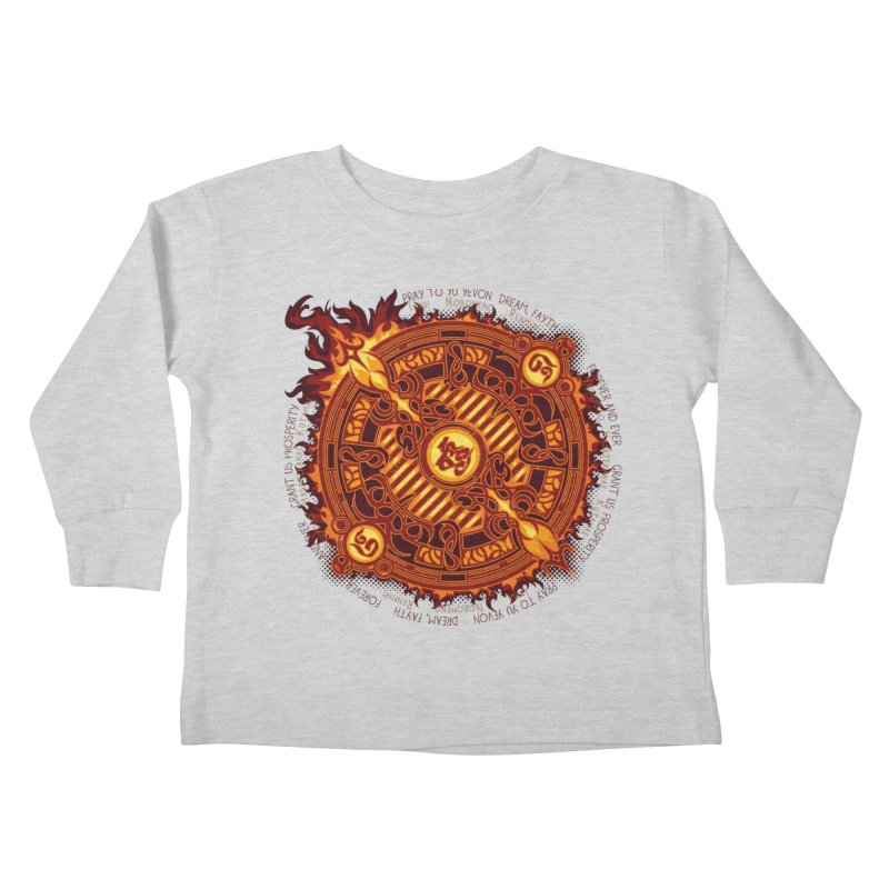 Ifrit Seal Kids Toddler Longsleeve T-Shirt by hechicero's Magic Shop