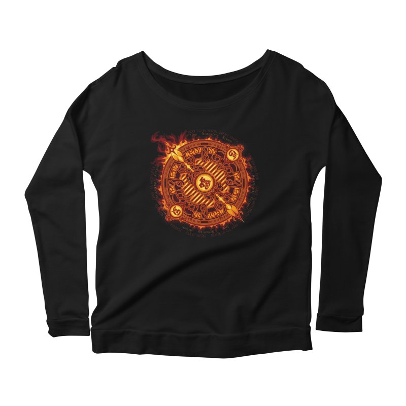 Ifrit Seal Women's Scoop Neck Longsleeve T-Shirt by hechicero's Magic Shop