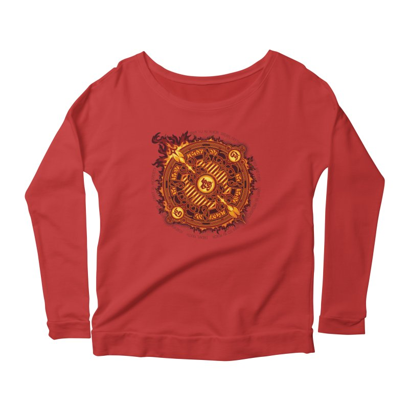 Ifrit Seal Women's Longsleeve Scoopneck  by hechicero's Magic Shop