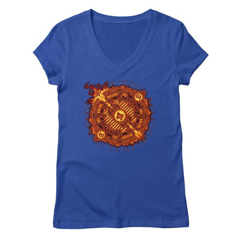 Ifrit Seal Women's Regular V-Neck by hechicero's Magic Shop