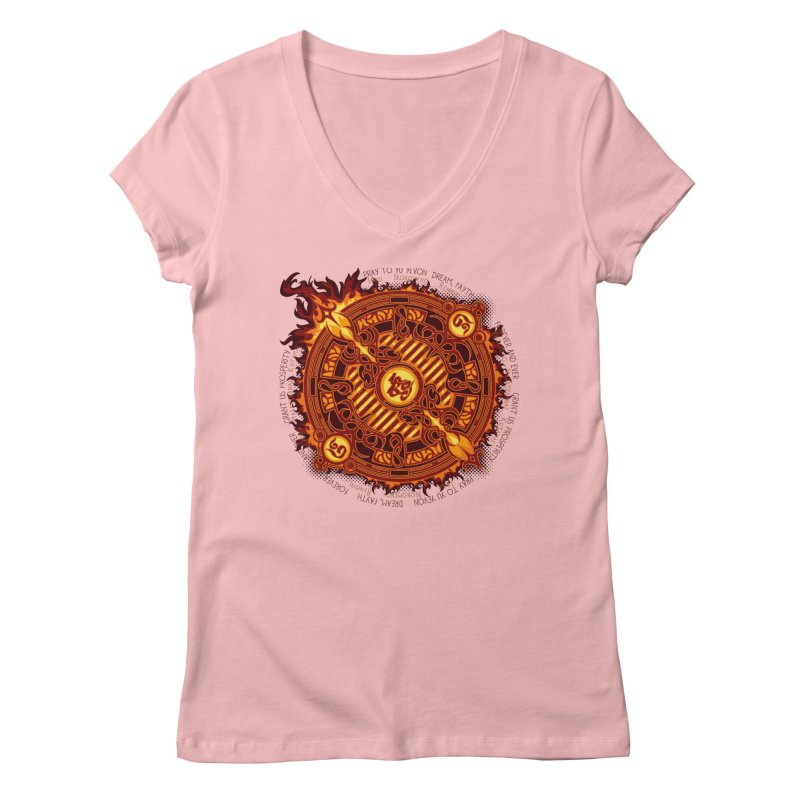 Ifrit Seal Women's V-Neck by hechicero's Magic Shop