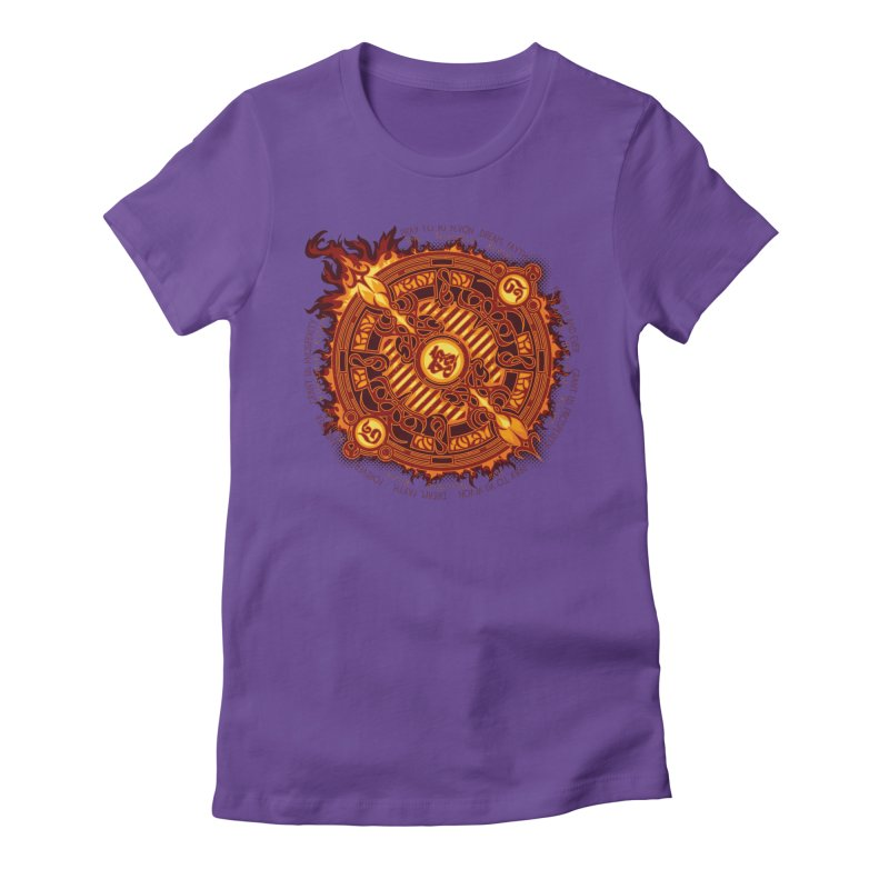 Ifrit Seal Women's Fitted T-Shirt by hechicero's Magic Shop