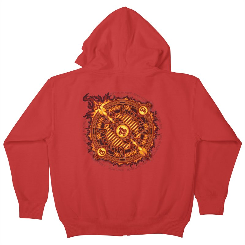 Ifrit Seal Kids Zip-Up Hoody by hechicero's Magic Shop