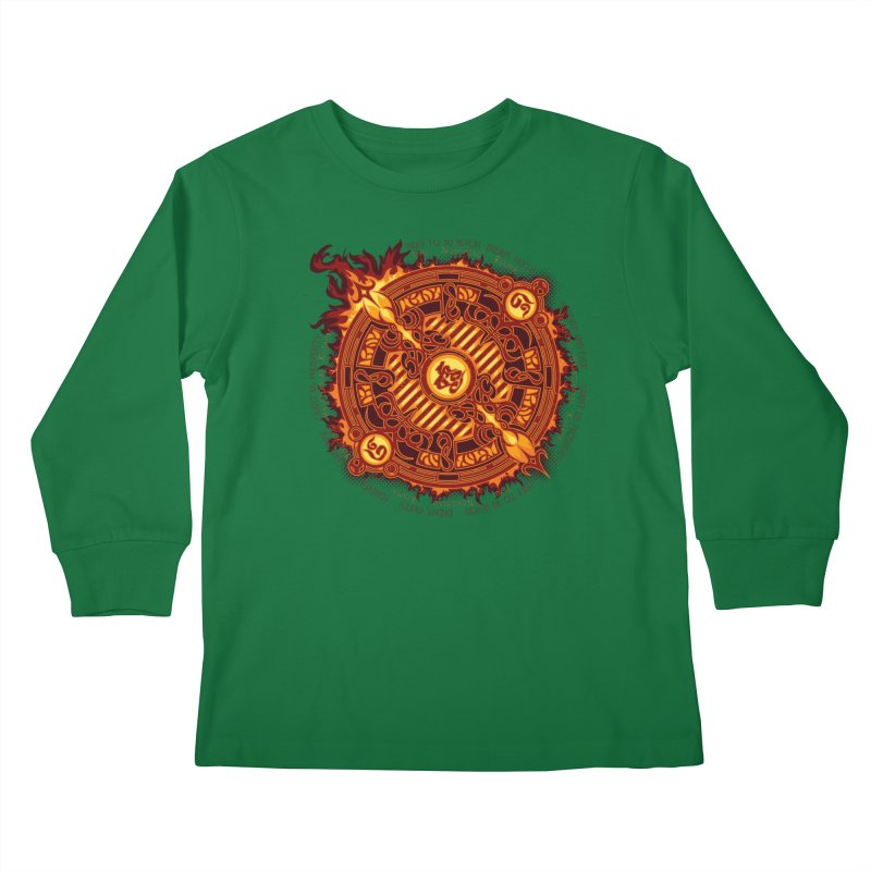 Ifrit Seal Kids Longsleeve T-Shirt by hechicero's Magic Shop