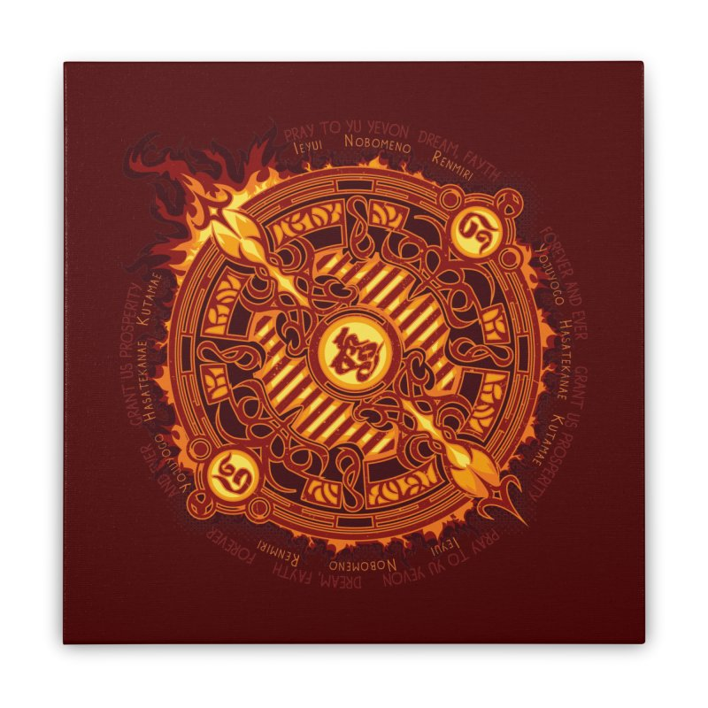 Ifrit Seal Home Stretched Canvas by hechicero's Magic Shop