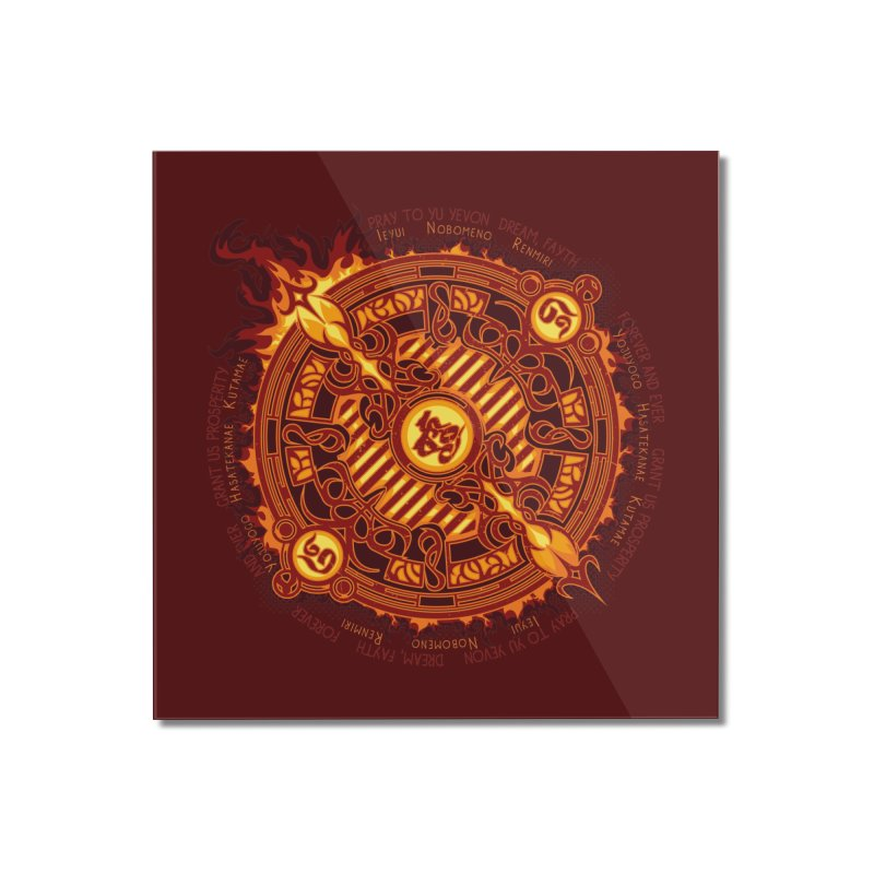 Ifrit Seal Home Mounted Acrylic Print by hechicero's Magic Shop