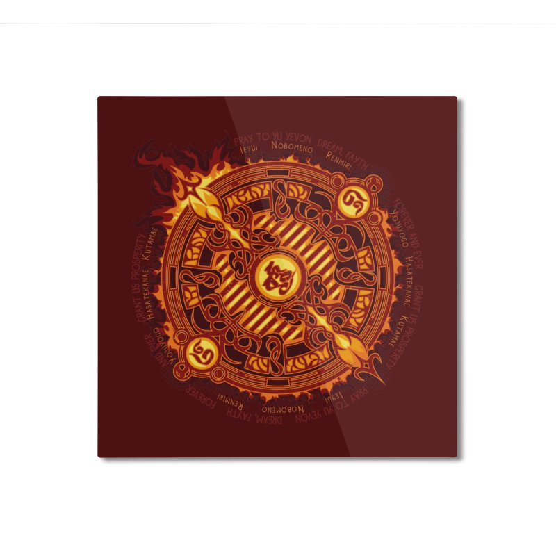 Ifrit Seal Home Mounted Aluminum Print by hechicero's Magic Shop