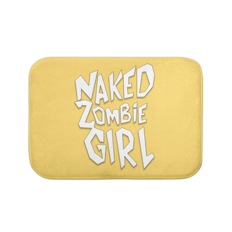 (Official) Naked Zombie Girl Logo - T-Shirt Home Bath Mat by The Official Hectic Films Shop
