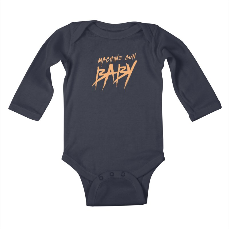 (Official) Machine Gun Baby - T-Shirt Kids Baby Longsleeve Bodysuit by The Official Hectic Films Shop