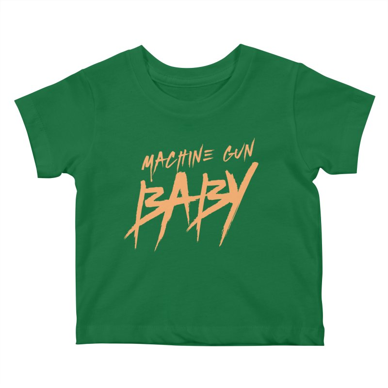 (Official) Machine Gun Baby - T-Shirt Kids Baby T-Shirt by The Official Hectic Films Shop