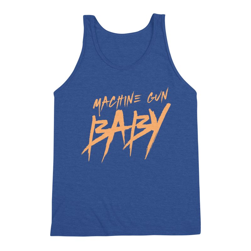 (Official) Machine Gun Baby - T-Shirt Men's Tank by The Official Hectic Films Shop