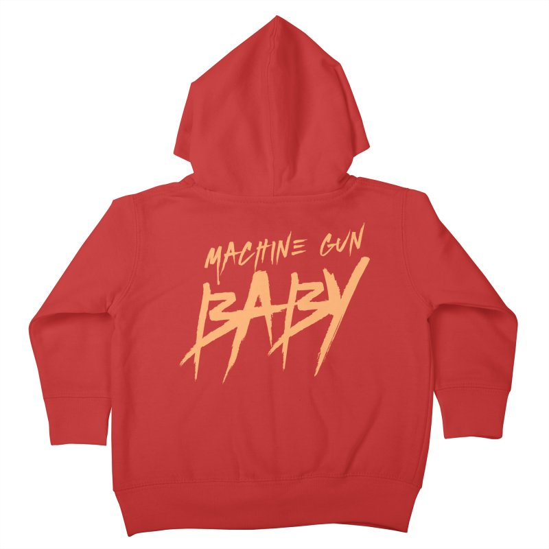 (Official) Machine Gun Baby - T-Shirt Kids Toddler Zip-Up Hoody by The Official Hectic Films Shop