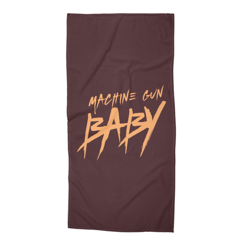 (Official) Machine Gun Baby - T-Shirt Accessories Beach Towel by The Official Hectic Films Shop