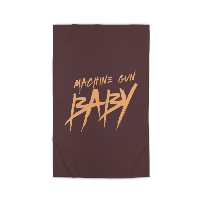 (Official) Machine Gun Baby - T-Shirt Home Rug by The Official Hectic Films Shop