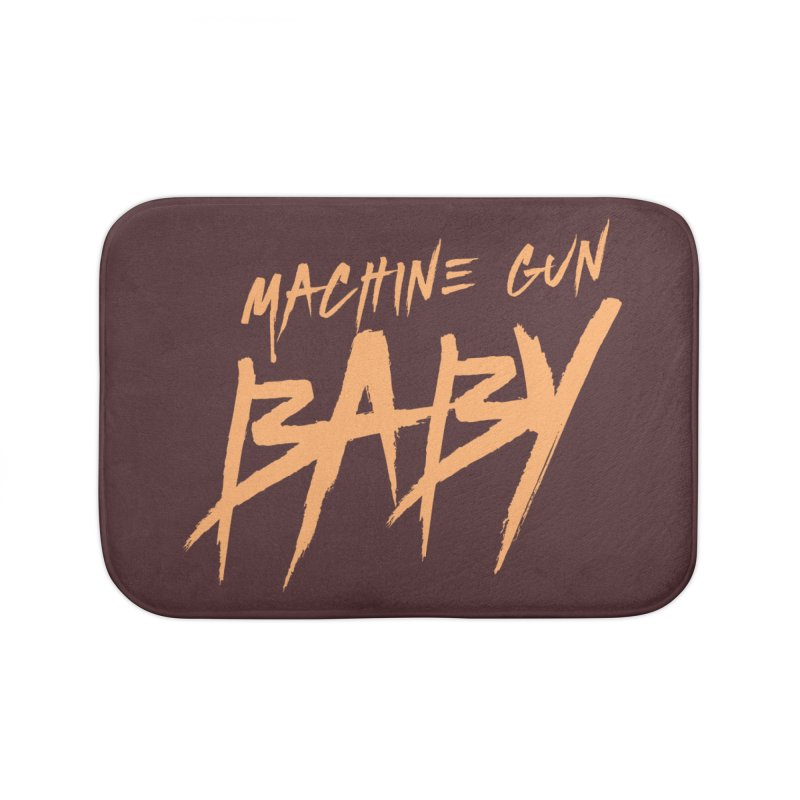 (Official) Machine Gun Baby - T-Shirt Home Bath Mat by The Official Hectic Films Shop