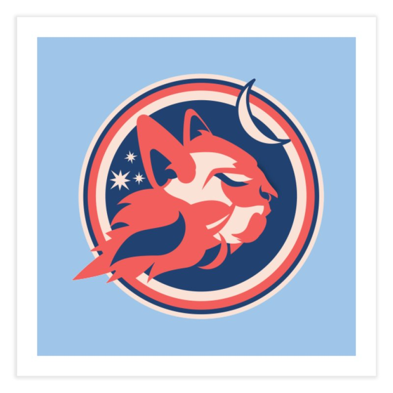 Space Cats Logo (Official) Home Fine Art Print by The Official Hectic Films Shop