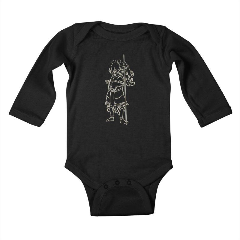 Rat Warrior - Chinese Zodiac Kids Baby Longsleeve Bodysuit by Heidi2524's Artist Shop