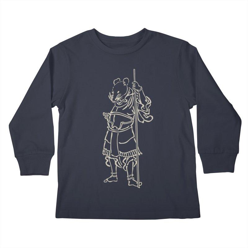 Rat Warrior - Chinese Zodiac Kids Longsleeve T-Shirt by Heidi2524's Artist Shop