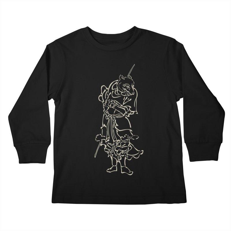Dog Warrior - Chinese Zodiac Kids Longsleeve T-Shirt by Heidi2524's Artist Shop