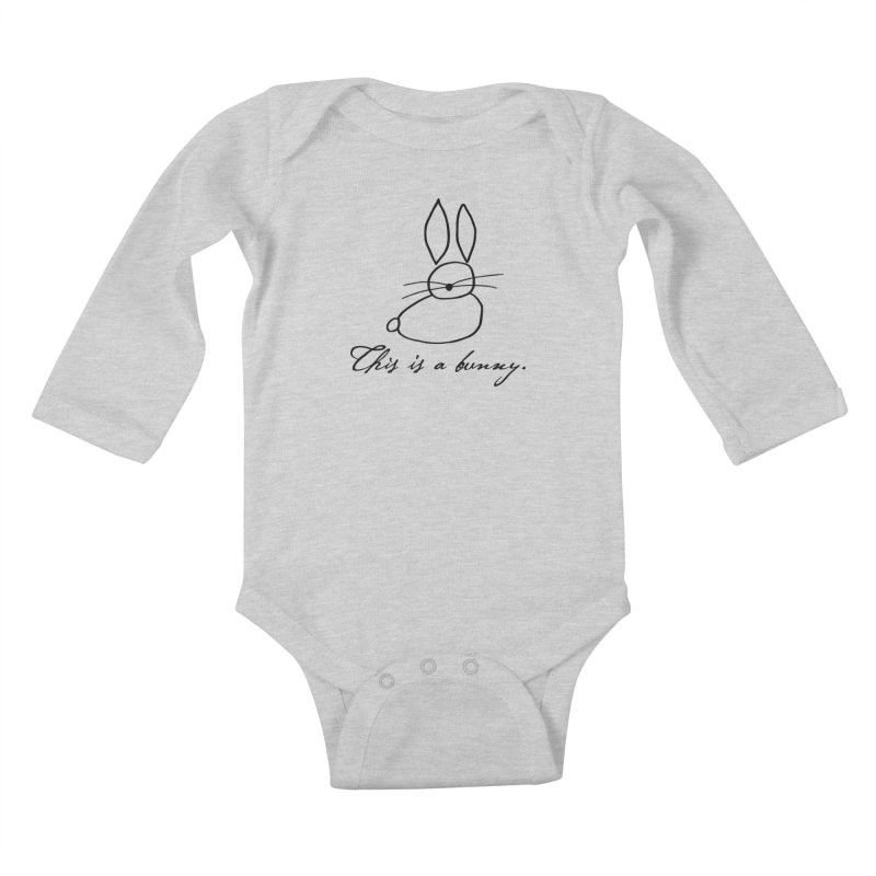 This is a bunny. Kids Baby Longsleeve Bodysuit by Heidi2524's Artist Shop