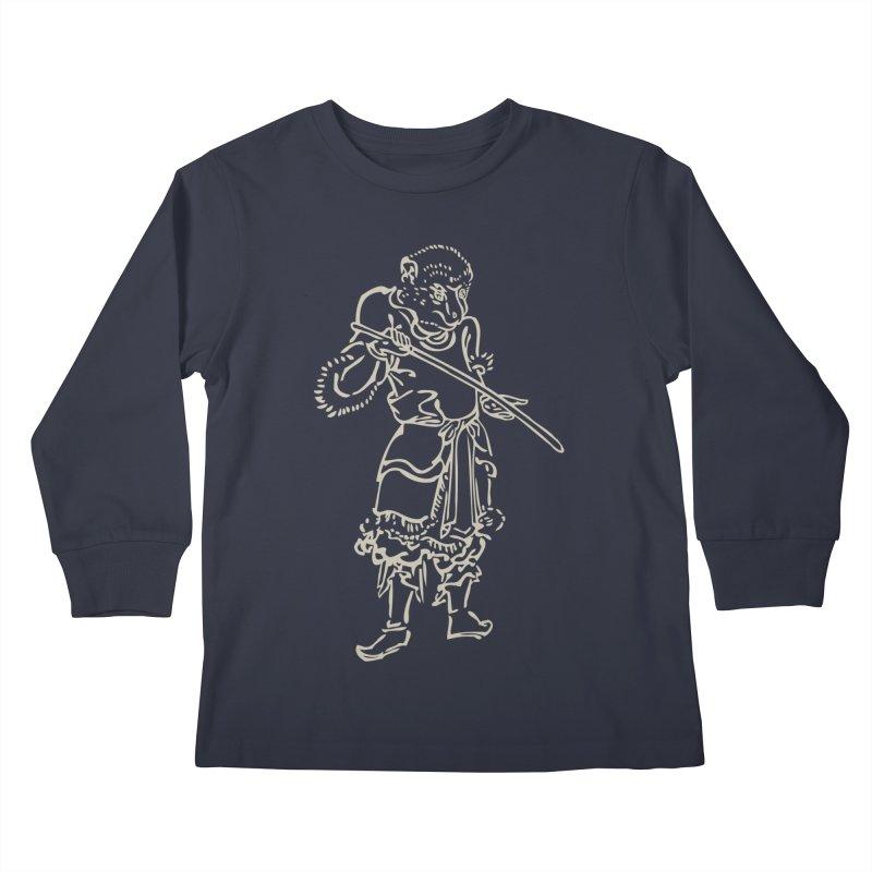 Monkey Warrior - Chinese Zodiac Kids Longsleeve T-Shirt by Heidi2524's Artist Shop