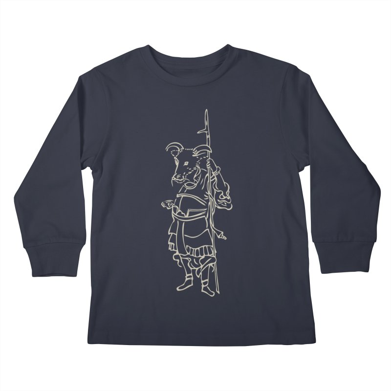 Ox Warrior - Chinese Zodiac Kids Longsleeve T-Shirt by Heidi2524's Artist Shop