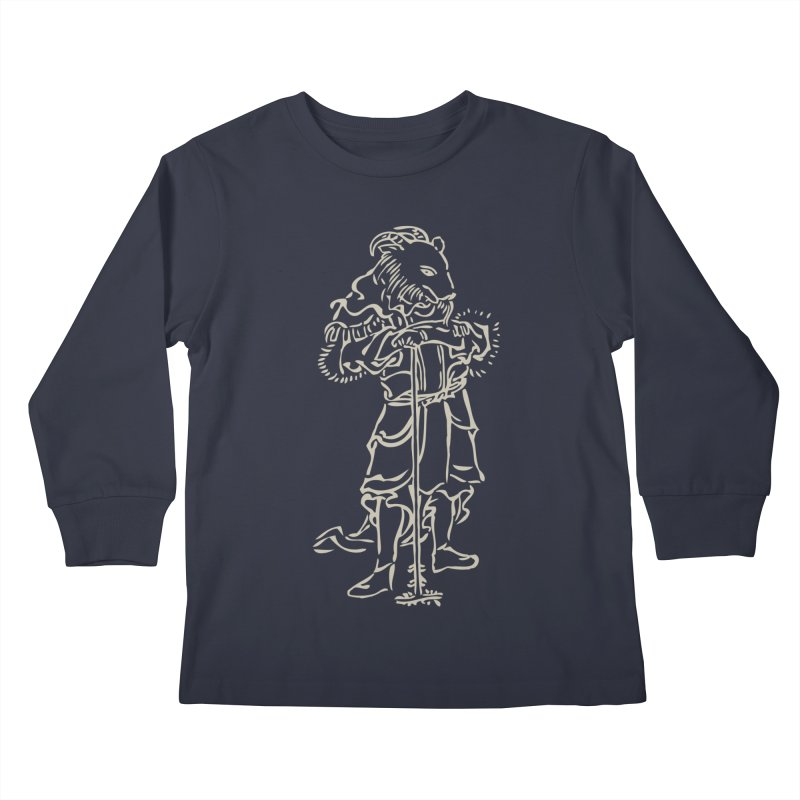 Goat Warrior - Chinese Zodiac Kids Longsleeve T-Shirt by Heidi2524's Artist Shop