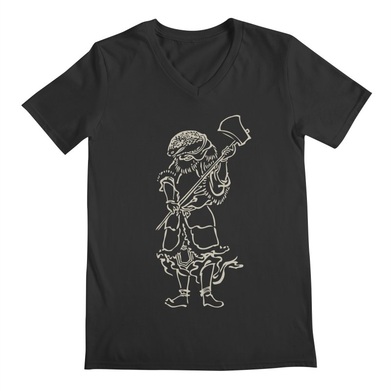 Snake Warrior - Chinese Zodiac Men's Regular V-Neck by Heidi2524's Artist Shop