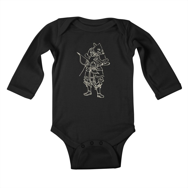 Pig Warrior - Chinese Zodiac Kids Baby Longsleeve Bodysuit by Heidi2524's Artist Shop
