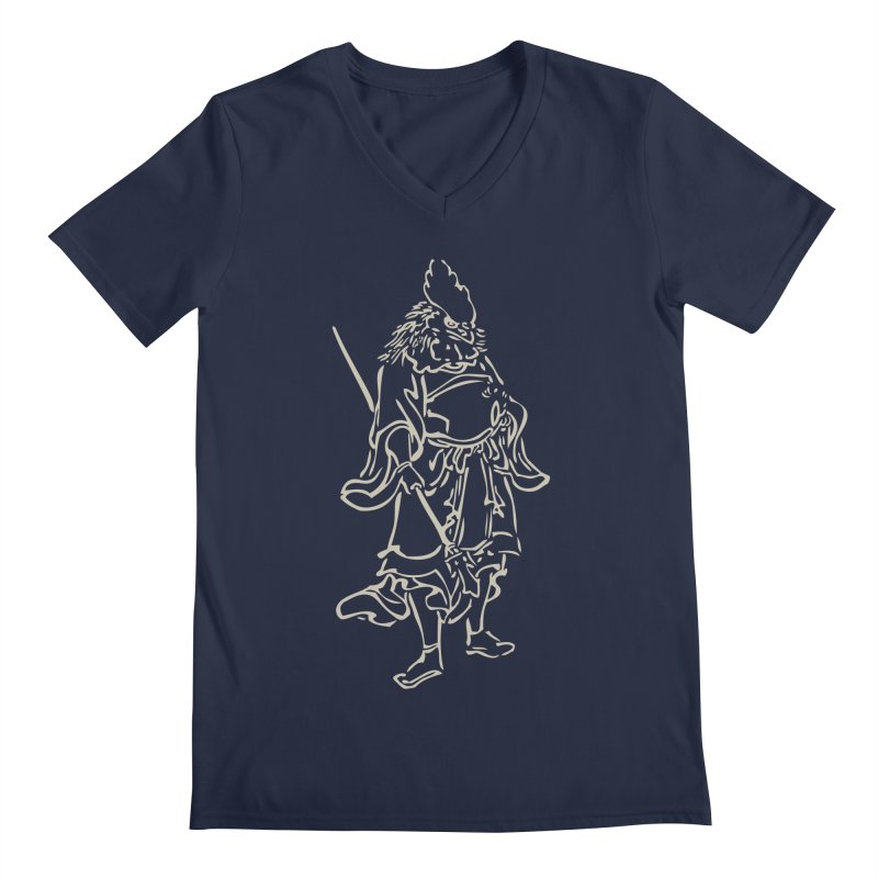 Rooster Warrior - Chinese Zodiac Men's Regular V-Neck by Heidi2524's Artist Shop