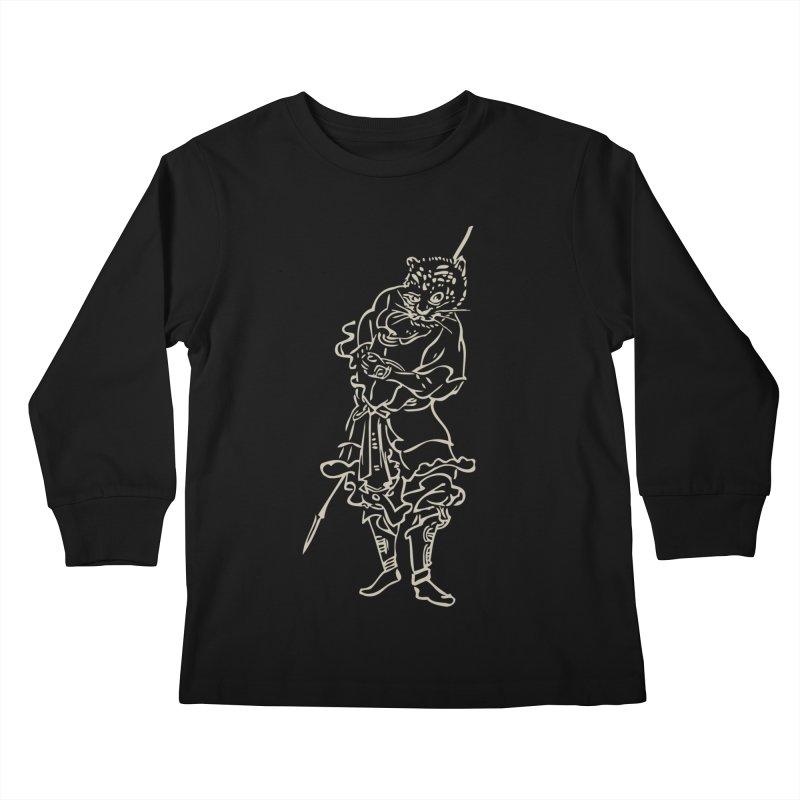 Tiger Warrior - Chinese Zodiac Kids Longsleeve T-Shirt by Heidi2524's Artist Shop