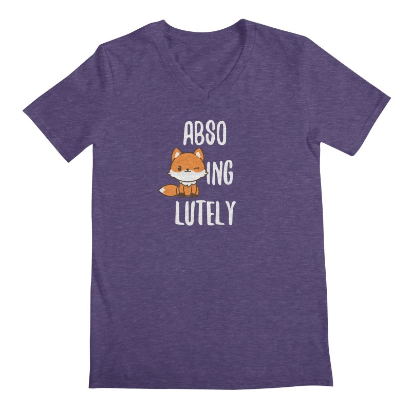 Abso-fox-ing-lutely Men's Regular V-Neck by Heidi2524's Artist Shop