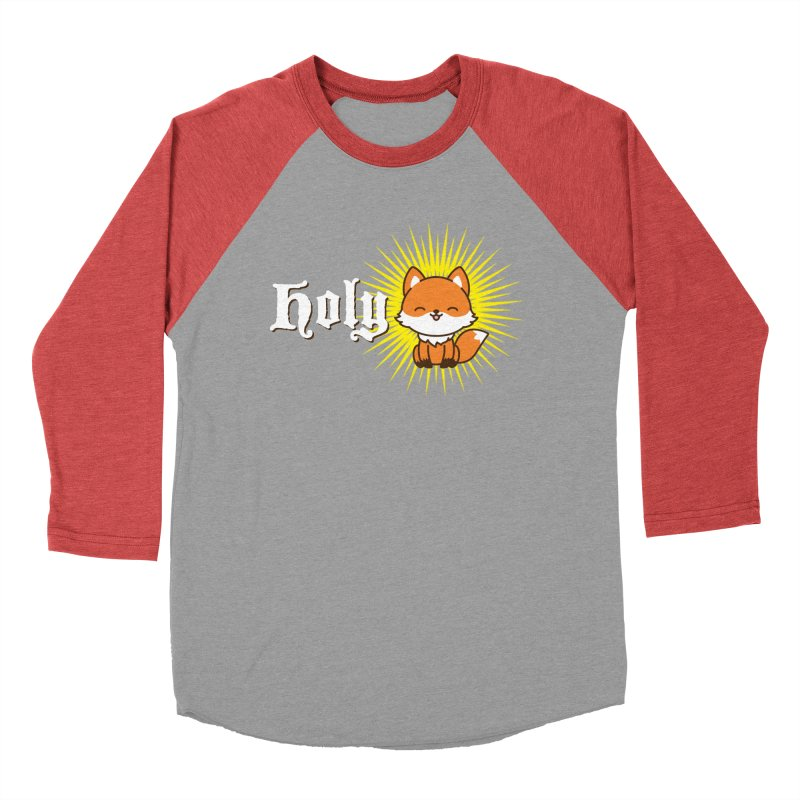 Holy Fox Women's Baseball Triblend Longsleeve T-Shirt by Heidi2524's Artist Shop