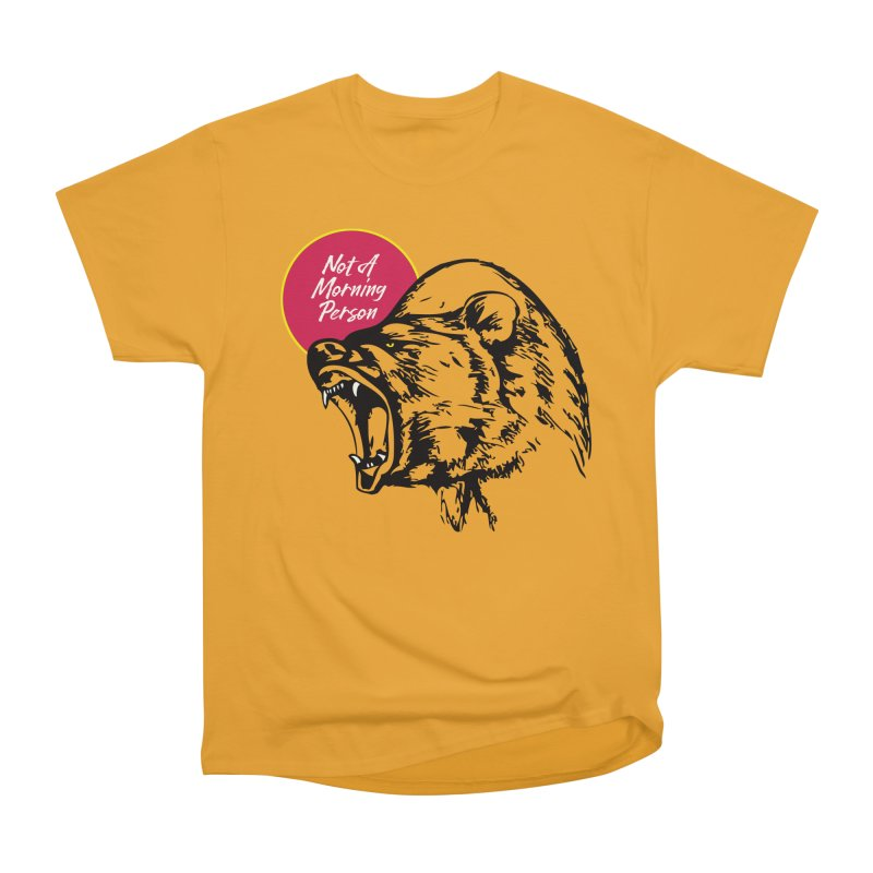 Not A Morning Bear Women's Heavyweight Unisex T-Shirt by Heidi2524's Artist Shop