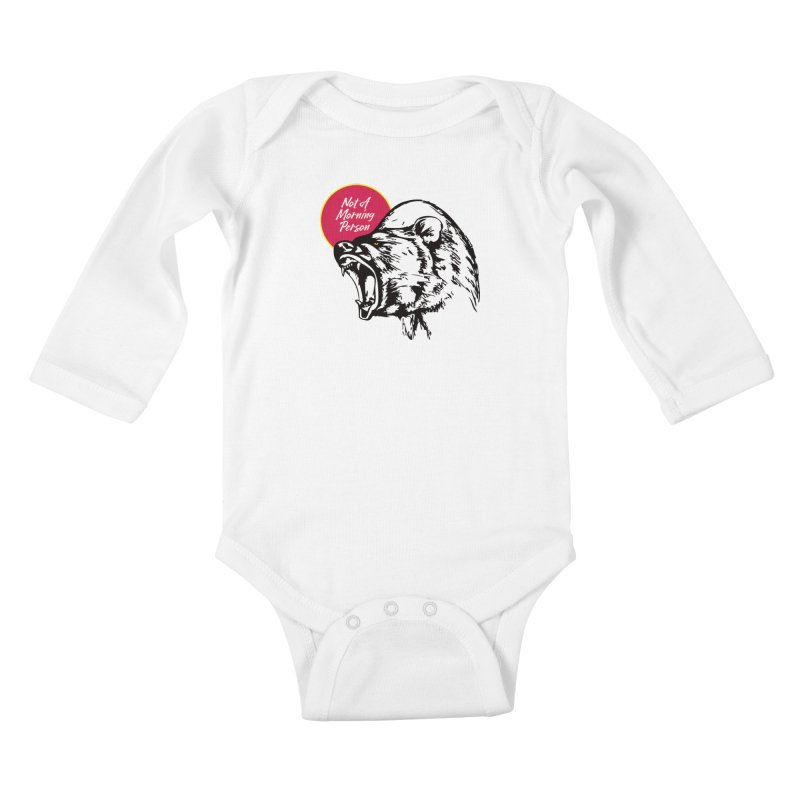 Not A Morning Bear Kids Baby Longsleeve Bodysuit by Heidi2524's Artist Shop
