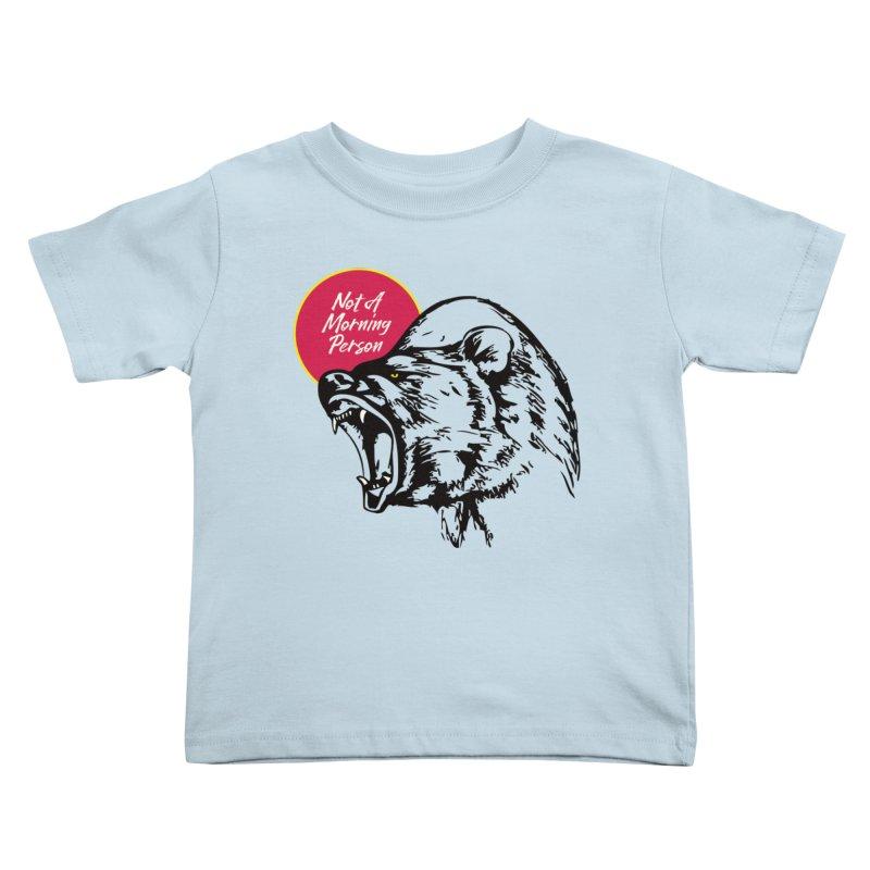 Not A Morning Bear Kids Toddler T-Shirt by Heidi2524's Artist Shop
