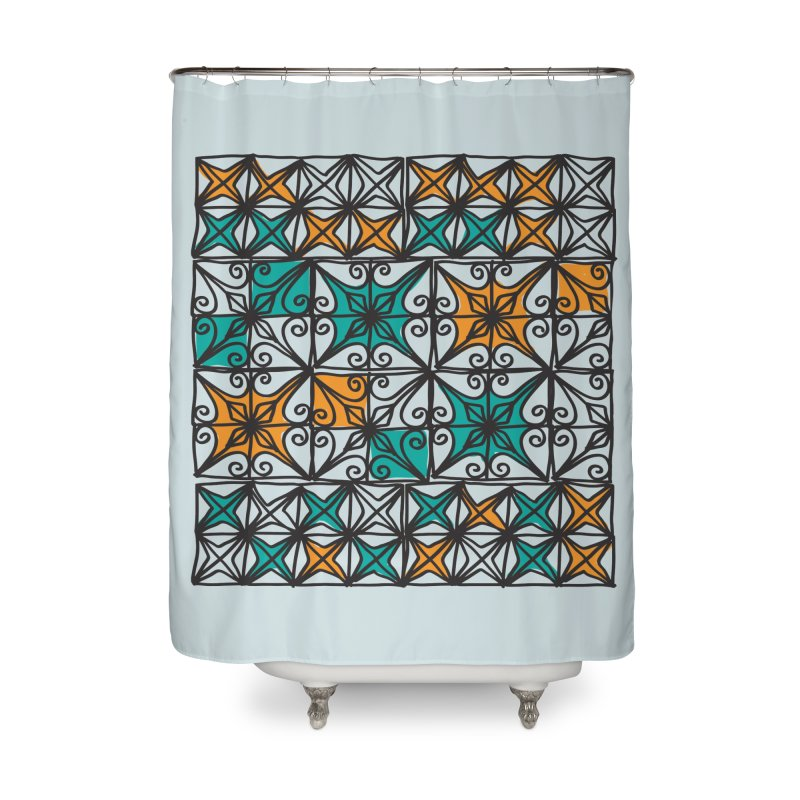 Rincon Fences SQUARE Home Shower Curtain by heidig's Shop