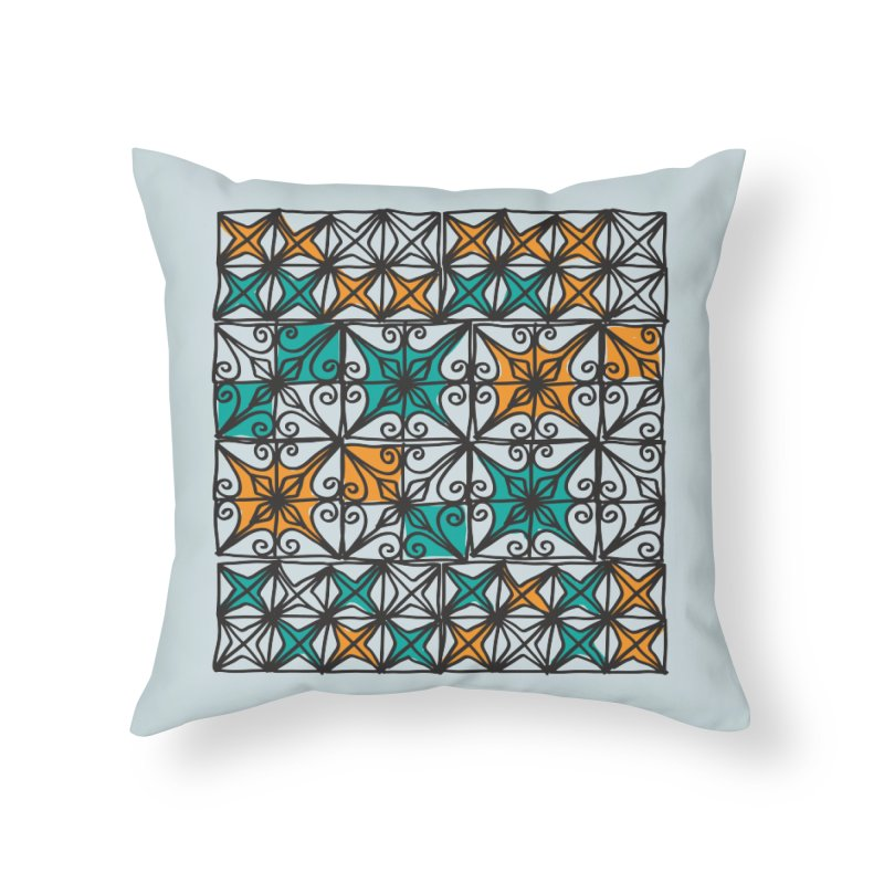 Rincon Fences SQUARE in Throw Pillow by heidig's Shop