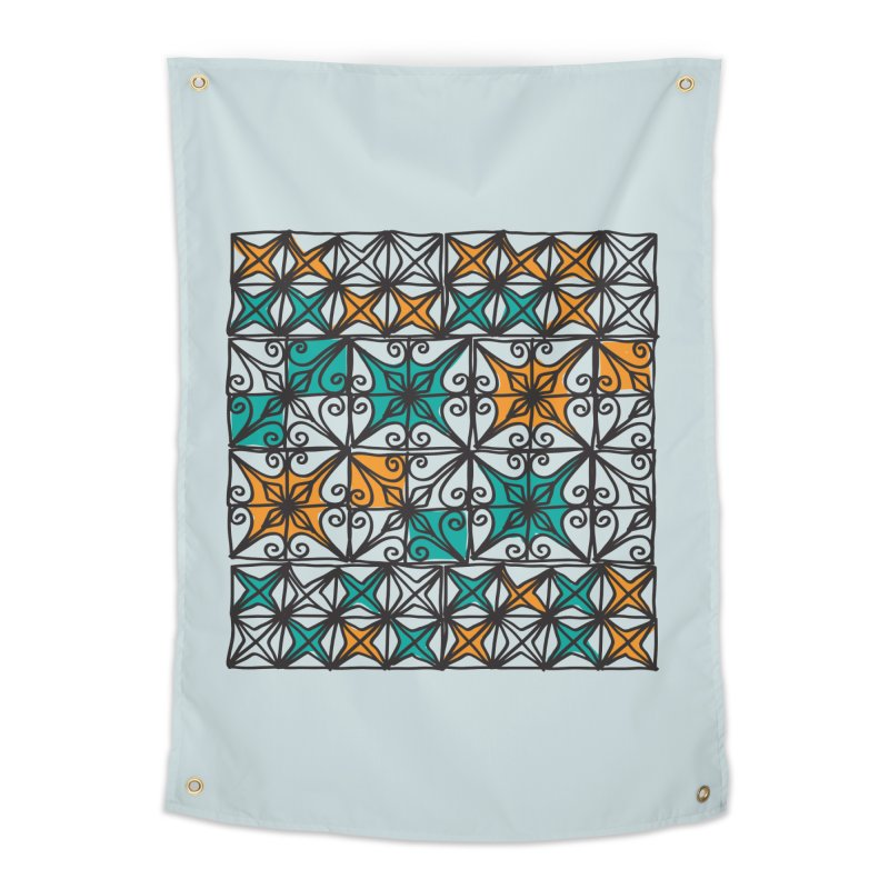 Rincon Fences SQUARE Home Tapestry by heidig's Shop