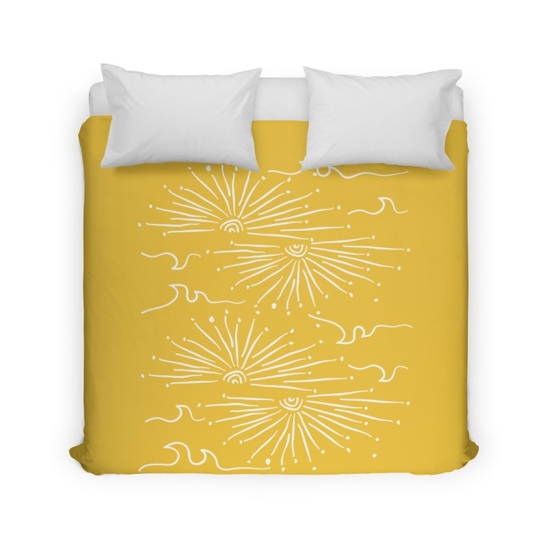 SUNSHINE WAVES Home Duvet by heidig's Shop