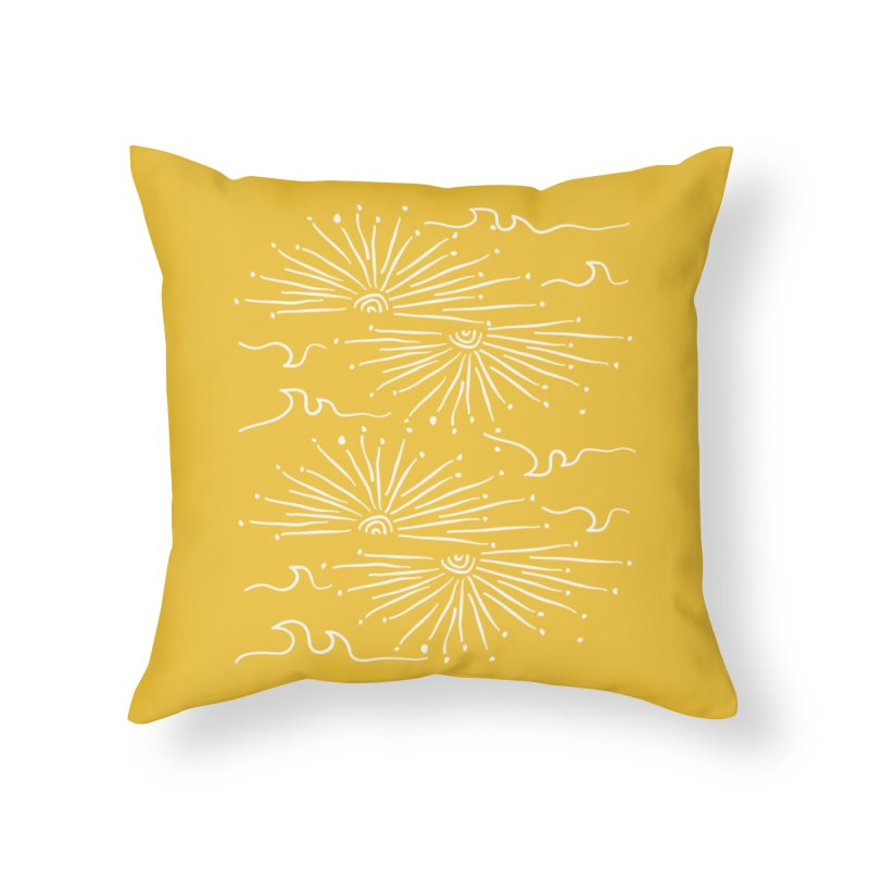 SUNSHINE WAVES Home Throw Pillow by heidig's Shop