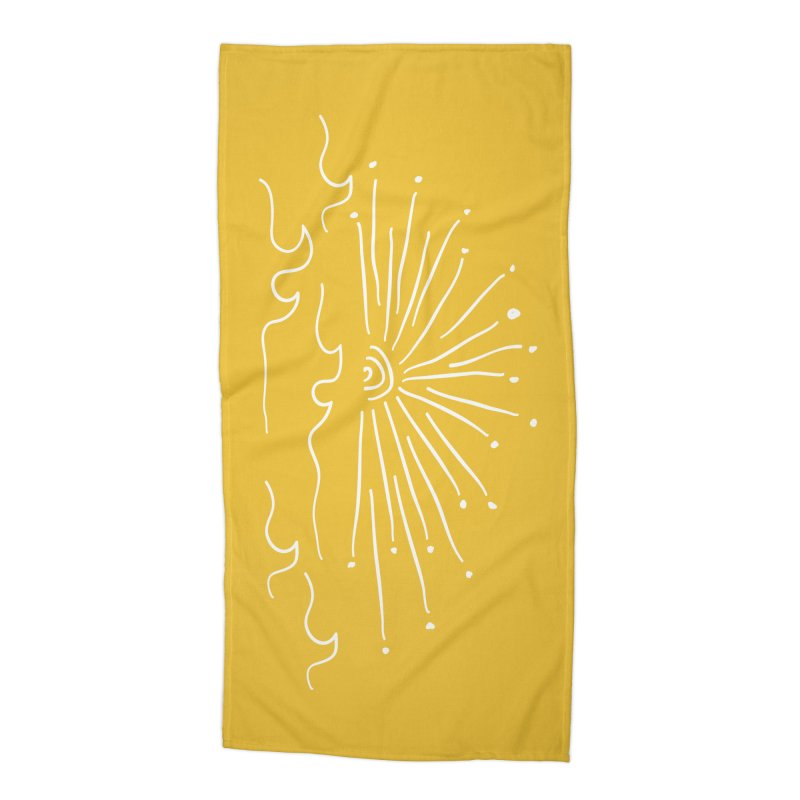 SUNSHINE large in Beach Towel by heidig's Shop