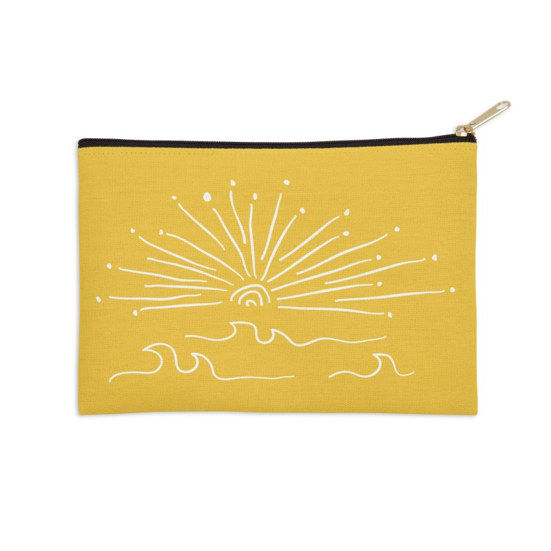 SUNSHINE large Accessories Zip Pouch by heidig's Shop