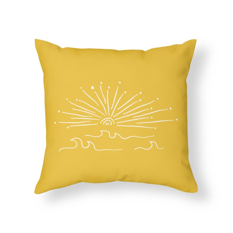 SUNSHINE large Home Throw Pillow by heidig's Shop