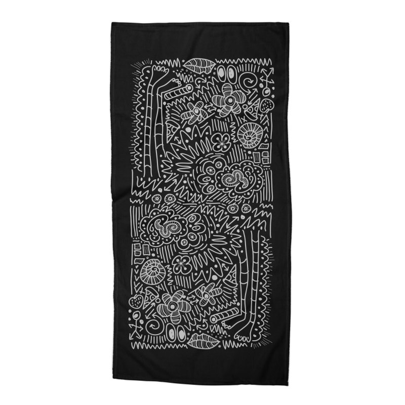 Doodle Therapy Accessories Beach Towel by heidig's Shop