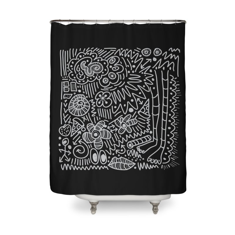 Doodle Therapy Home Shower Curtain by heidig's Shop