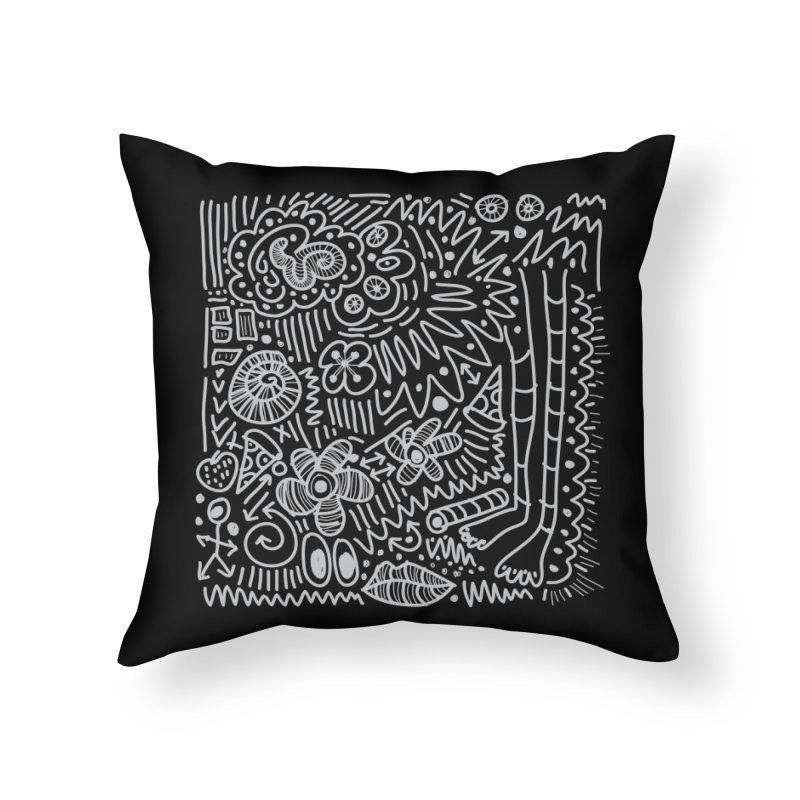 Doodle Therapy Home Throw Pillow by heidig's Shop
